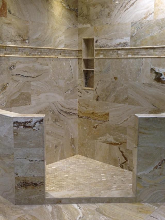40 Spectacular Stone Bathroom Design Ideas: Best 40 Travertine Tile Shower Is Good For Your Bathroom
