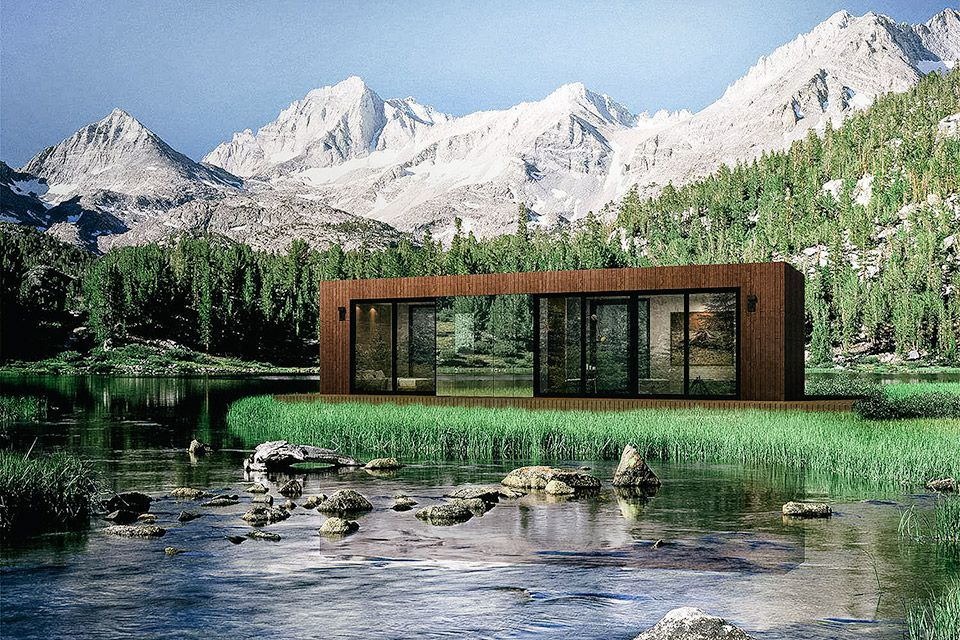 480 square feet may not sound like much, but with smart storage options and floor-to-ceiling windows, the Cocoon Cabin feels larger than it is. The standard floor plan has a combined living, dining, and kitchen area, a single bedroom that...
