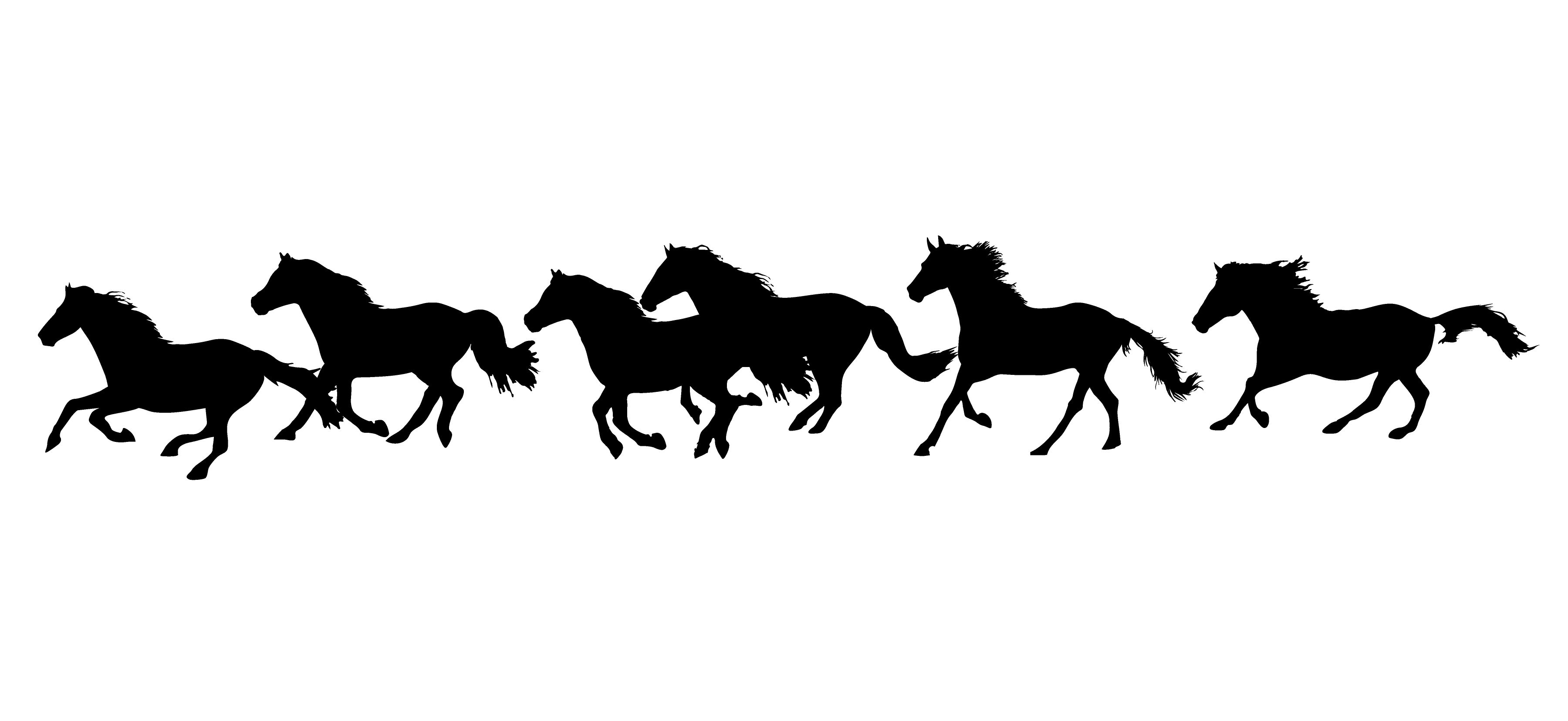 Running Horses   Horse, Silhouettes and Stenciling
