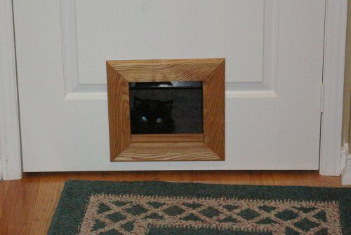 High Quality Cat Door For Panel Wood Doors