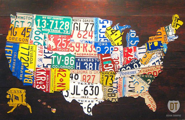 United States License Plate Map | Pinterest | License plate check ...
