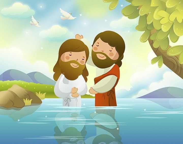 Bautizo de Jesus | tarjetas | Pinterest