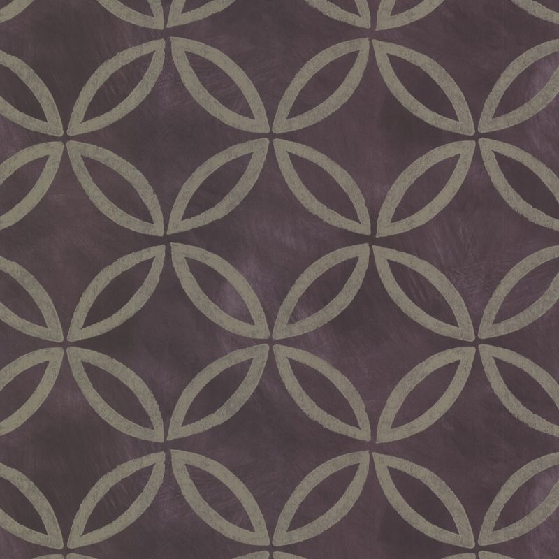 Brewster HZN43123 Cloverleaf Purple Geometric Wallpaper Purple Geometric Home Decor Wallpaper Wallpaper