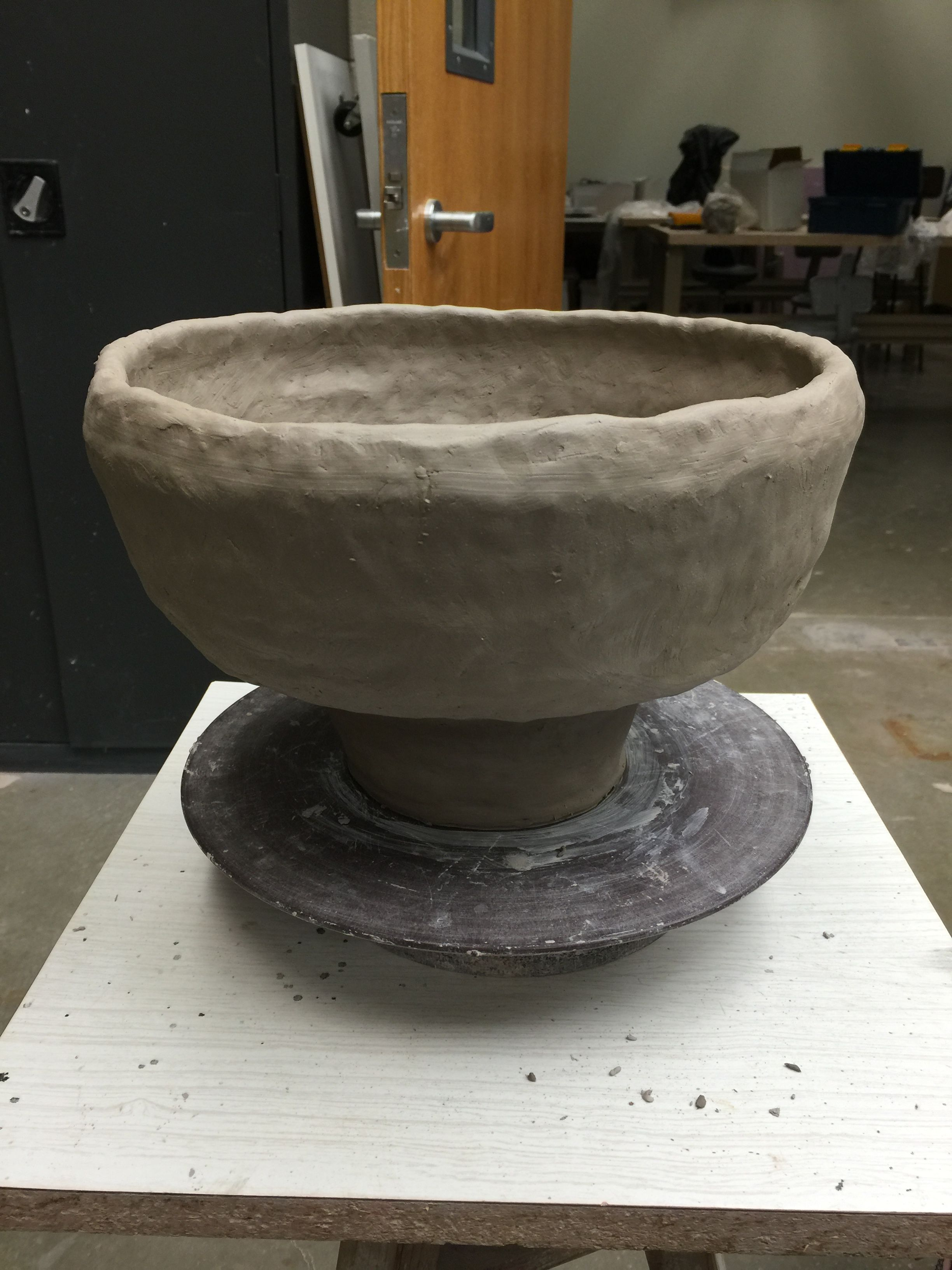 Ceramic coil potvase first time to make one this big and