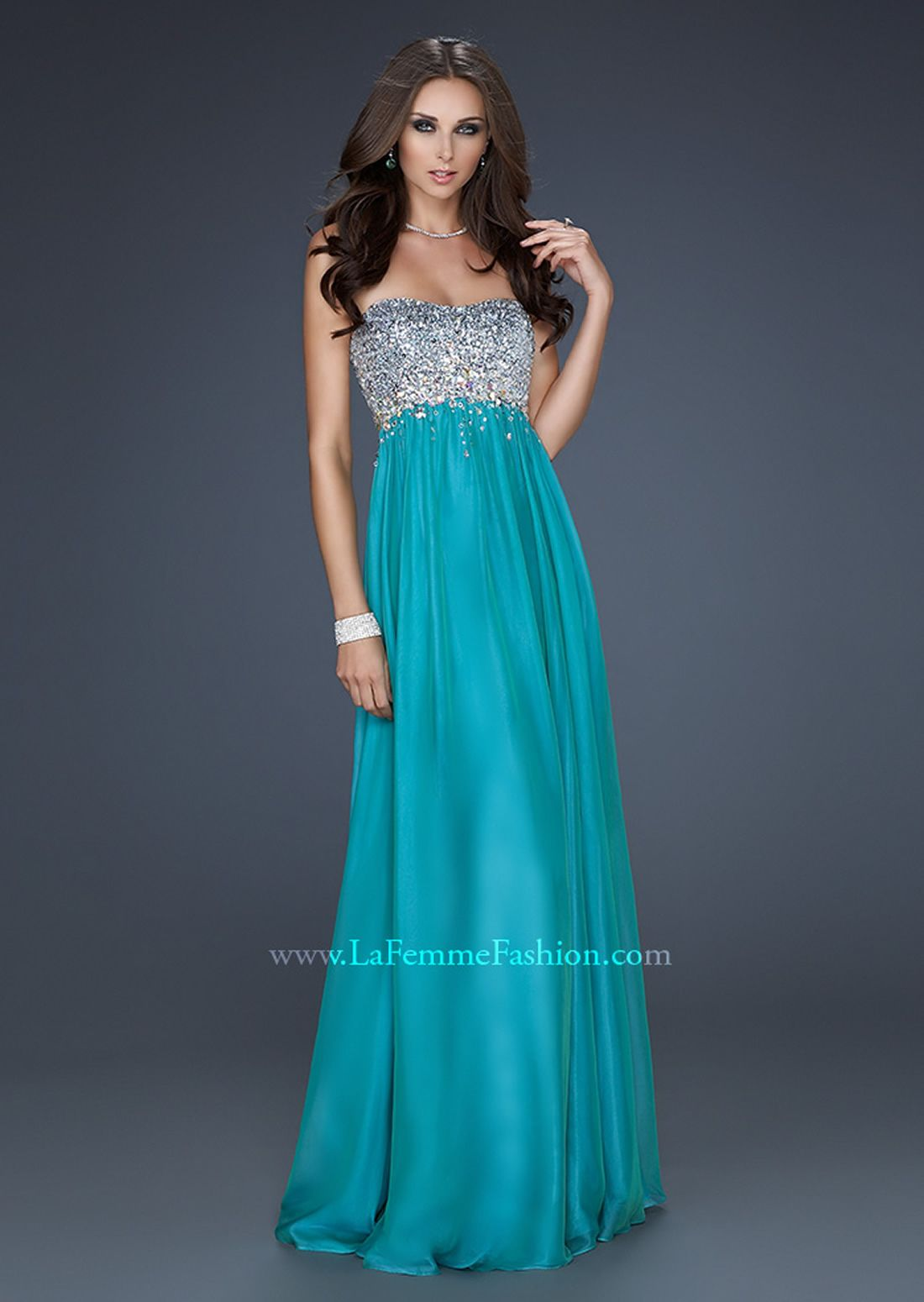 Sparkly top and turquoise base color | Prom Dresses | Pinterest ...