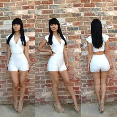 Details about Hot White Womens Clubwear Outfit Bodycon Sexy ...