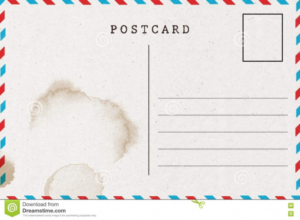 Free Blank Postcard Template For Word 2 Templates Example Templates Example