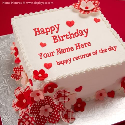 Beautiful Happy Birthday Cake Images With Name Editor Online Personal Photo  On Birthday Cake A Perfect Greeting Card
