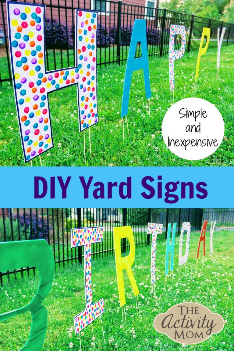 Inexpensive DIY Yard Signs The Activity Mom in 2020