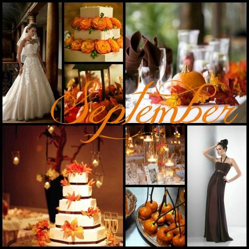 Wedding Color Ideas By Month. Totally Loving September!! Perfect