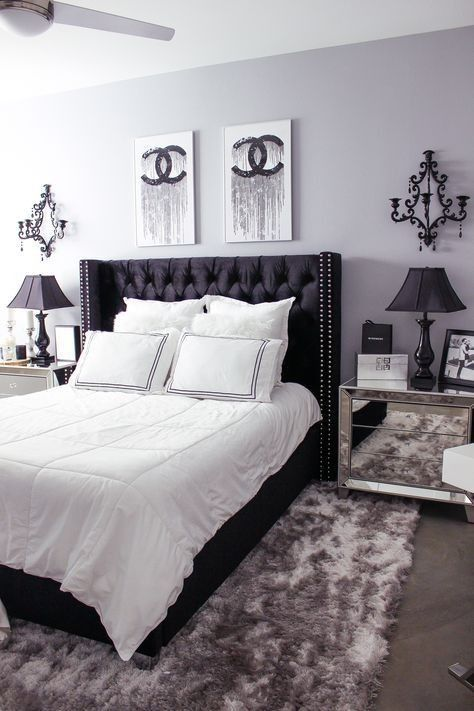 Schwarz Weiss Schlafzimmer Dekor Ideen Apartment Bedroom Decor