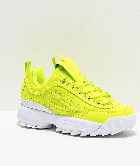 FILA Disruptor II Shift Yellow Shoes   Yellow shoes, Black