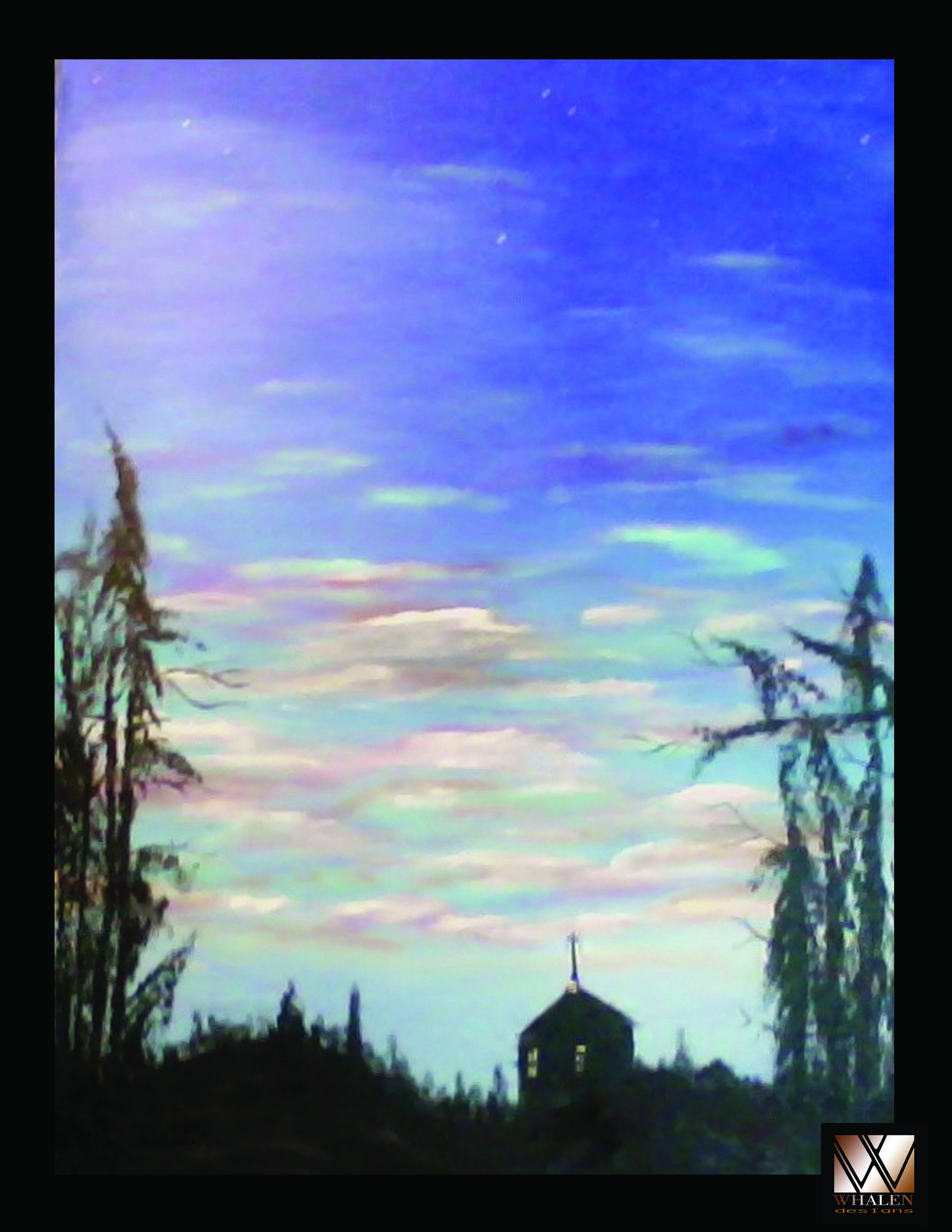 Title...  Church at Dawn Artist...  Joseph Whalen Medium...  Acrylic