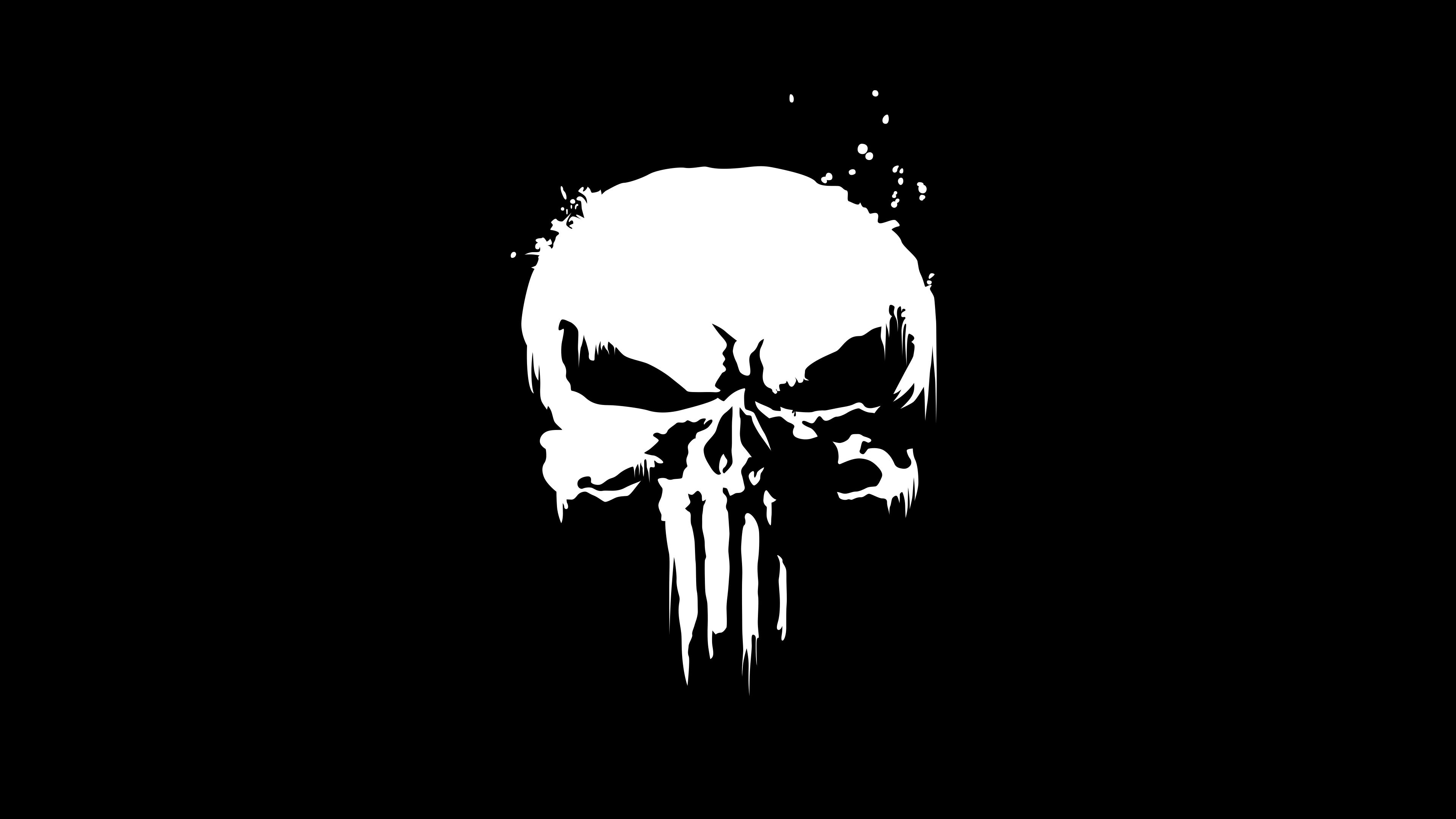 The Punisher Minimal Logo 4K (With images) Skull