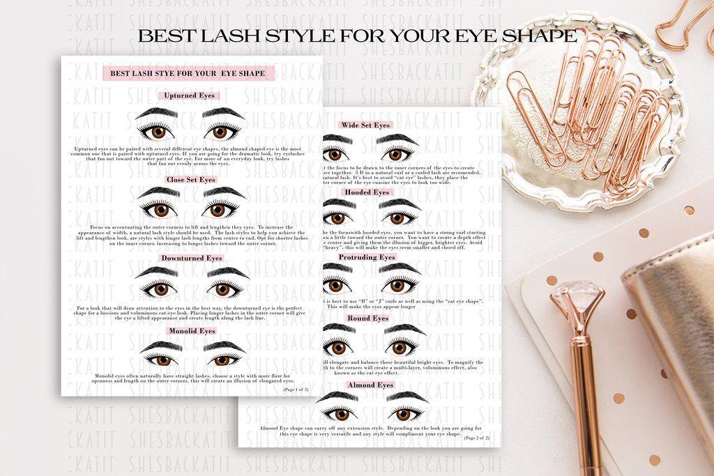 Eyelash extension eye shape guide lash extension guide