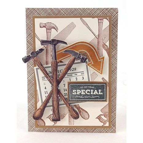 "Anna Griffin® ""For the Boys"" Clear Stamp Set with Mount"