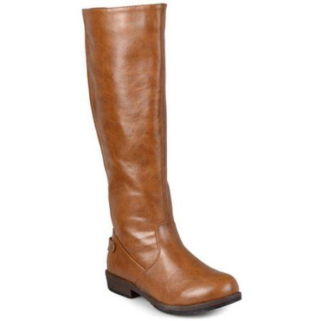 Brinley Co. Womens Wide-Calf Knee-High Stretch Riding Boot ...