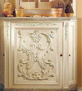 Superieur Modesto Carved Wood Horizontal Furniture Onlay Installed On The Custom  Cabinet