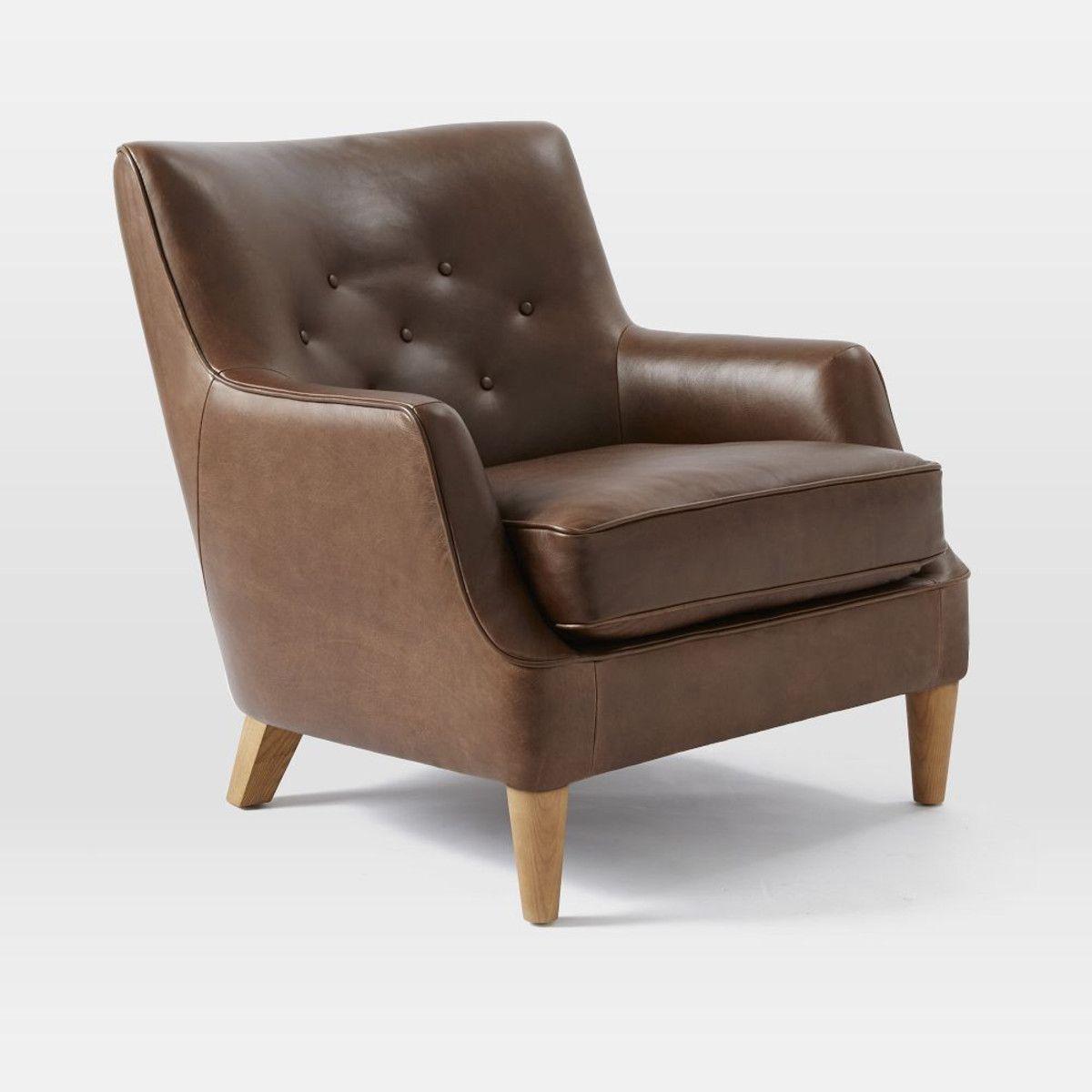 Livingston Leather Club Chair - Clove