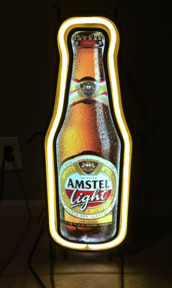 Amstel Light Neon Sign Beer Bar Pub Man Cave Bottle Beer Bar