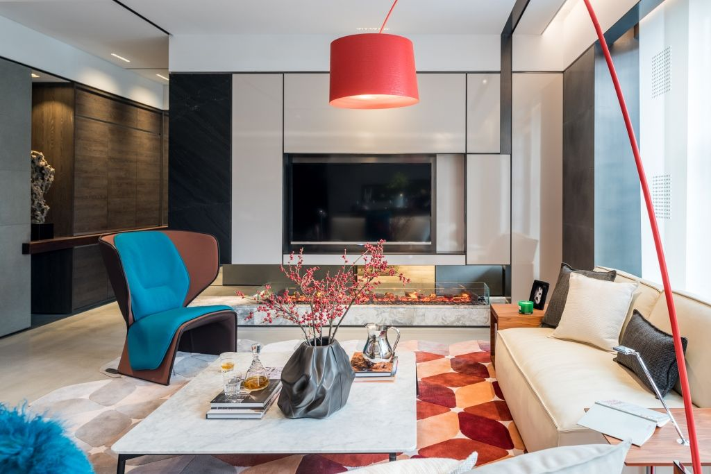 Interior Design/Nobilia/Example Room/The Sitting Room/Post Modern/Red And  Blue Colours/570 GENDER/244 MYWORLD