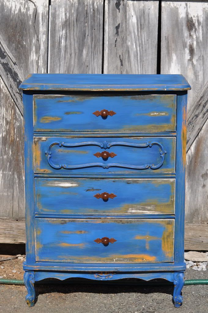 Blue Distressed Dresser inspiration ooooooh love this color Good