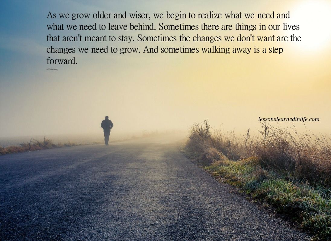 I think so much of what we learn when we get older is being...