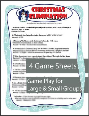 christmas elimination trivia game and it is really hard to get them all right - Christmas Office Party Games