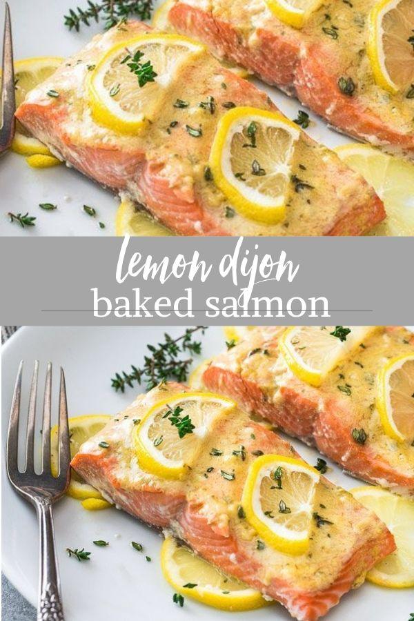 Easy Baked Lemon Dijon Salmon - Flavor the Moments