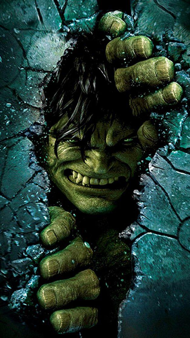 Angry Hulk Smash Wallpaper Pahlawan super, Lukisan wajah