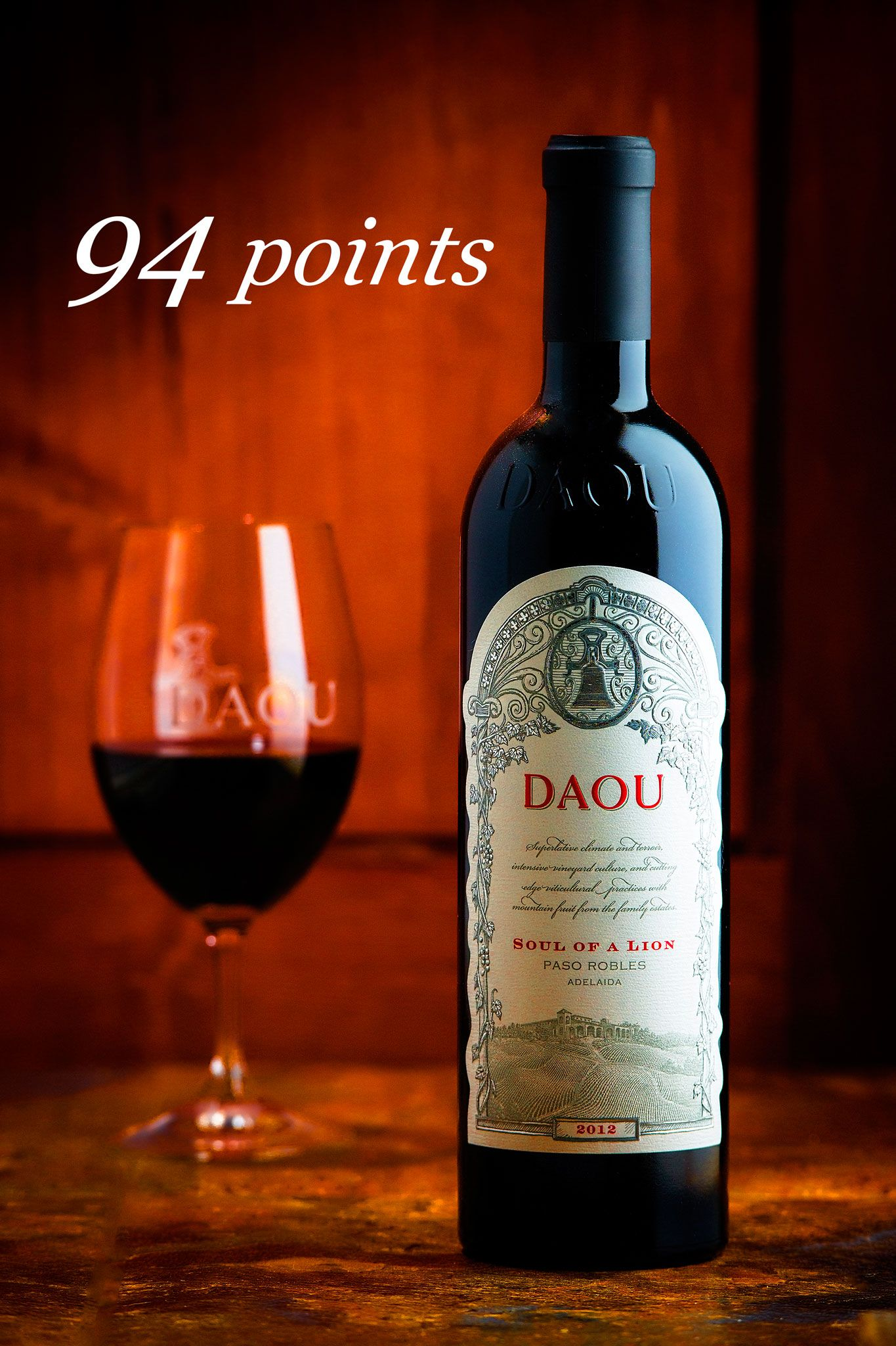 1st Out Of 107 Wines Our 2012 Daou Estate Soul Of A Lion Is The Top Rated Cabernet Sauvignon From Connoisseurs Guid Wine Tasting California Winery Wine Decor