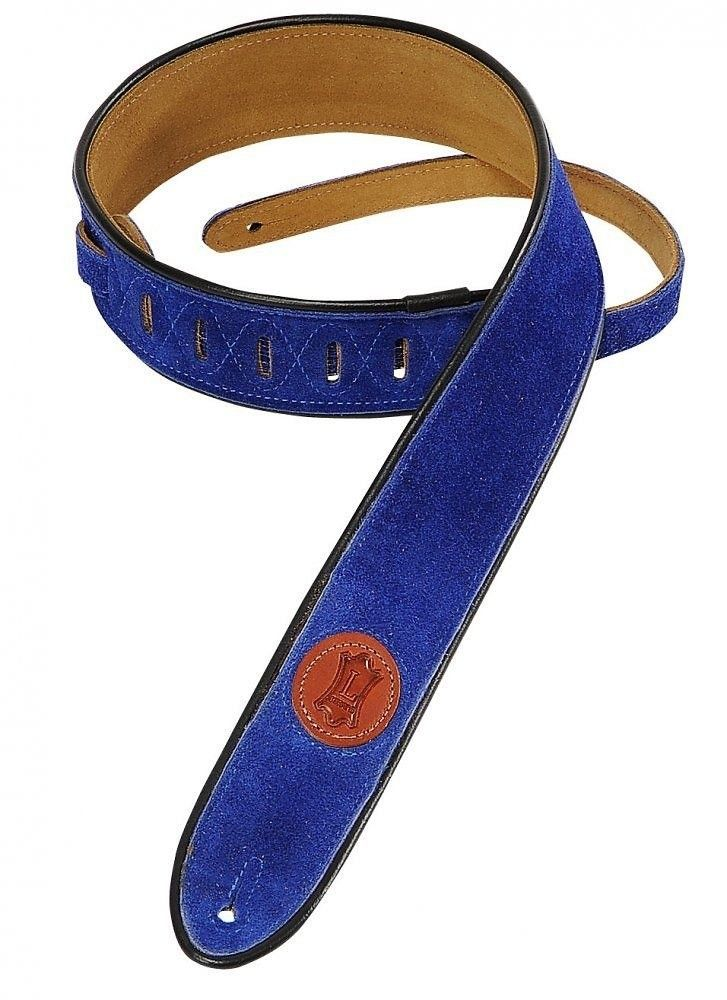 Levy's Levy's Leather Suede Signature Guitar Strap MSS3-2 ROY Royal Blue