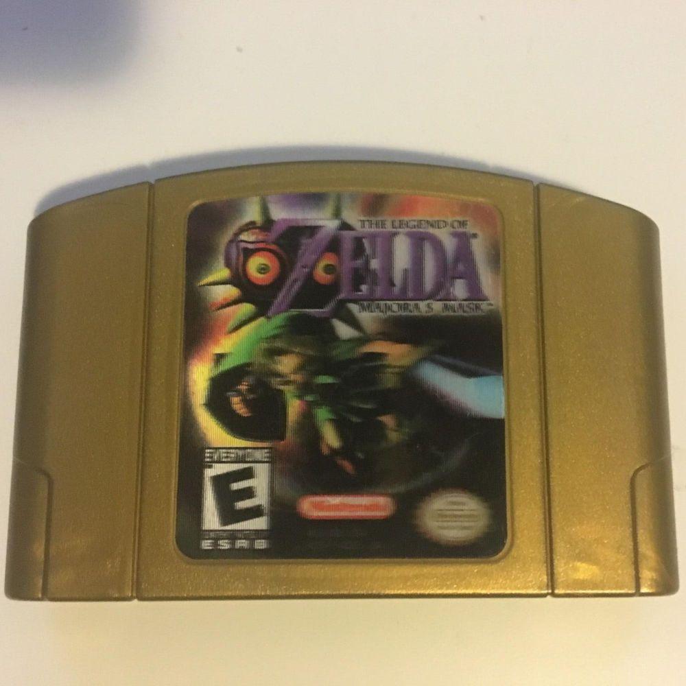 The Legend Of Zelda Majora S Mask Hologram Label Nintendo 64