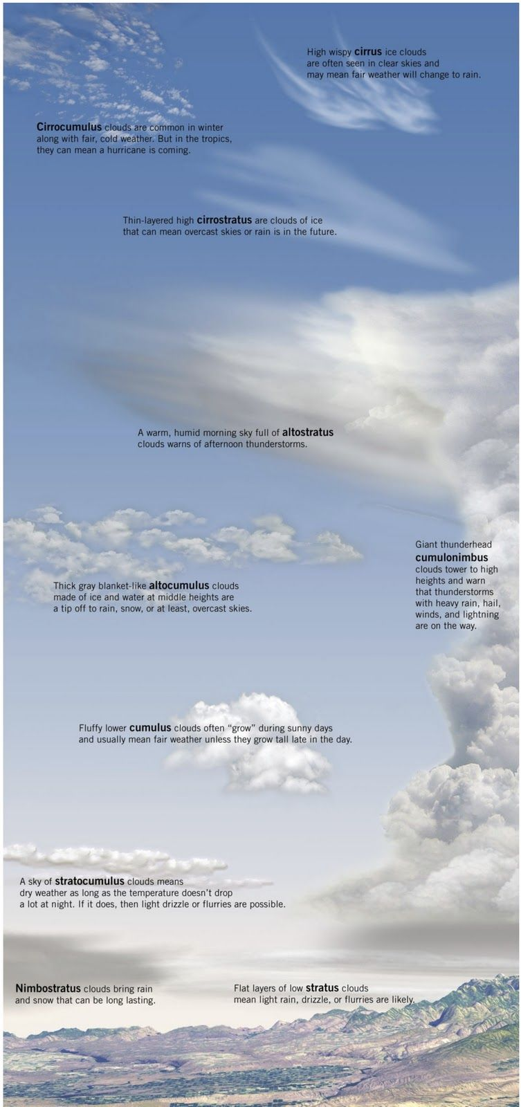 medium resolution of What do different clouds mean for the weather?   Kinds of clouds