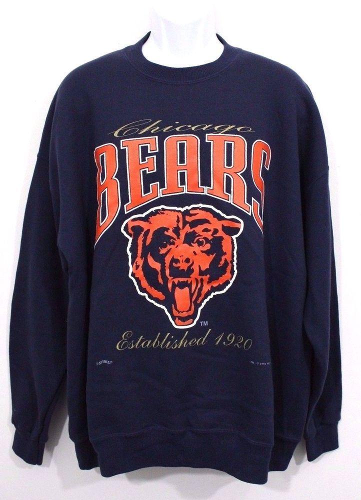 size 40 6ab05 50101 NEW Vtg 90s Chicago Bears NFL Football Nutmeg Mills ...