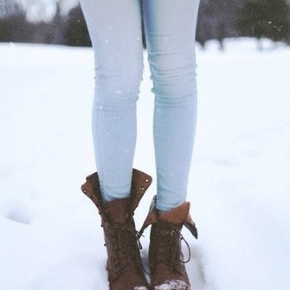 Light Jeans Fashion Skinny Jeans Winter Fall Boots Combat