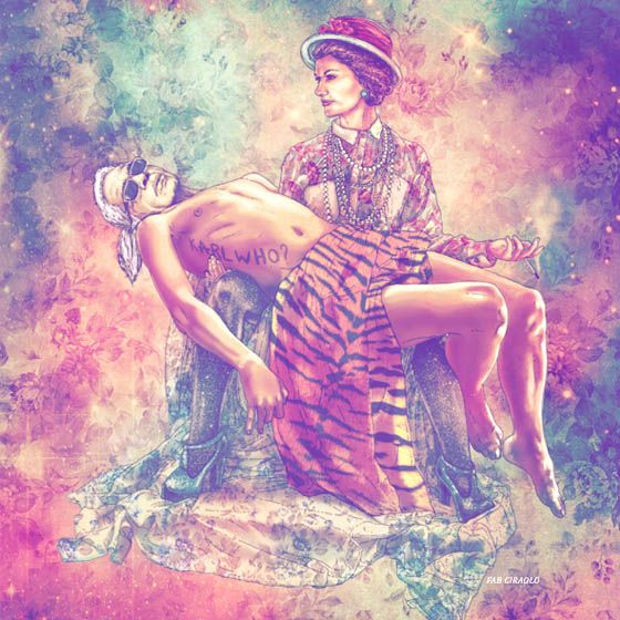 Fab Ciarolo - Illustrazioni glam e hipster di icone popolari