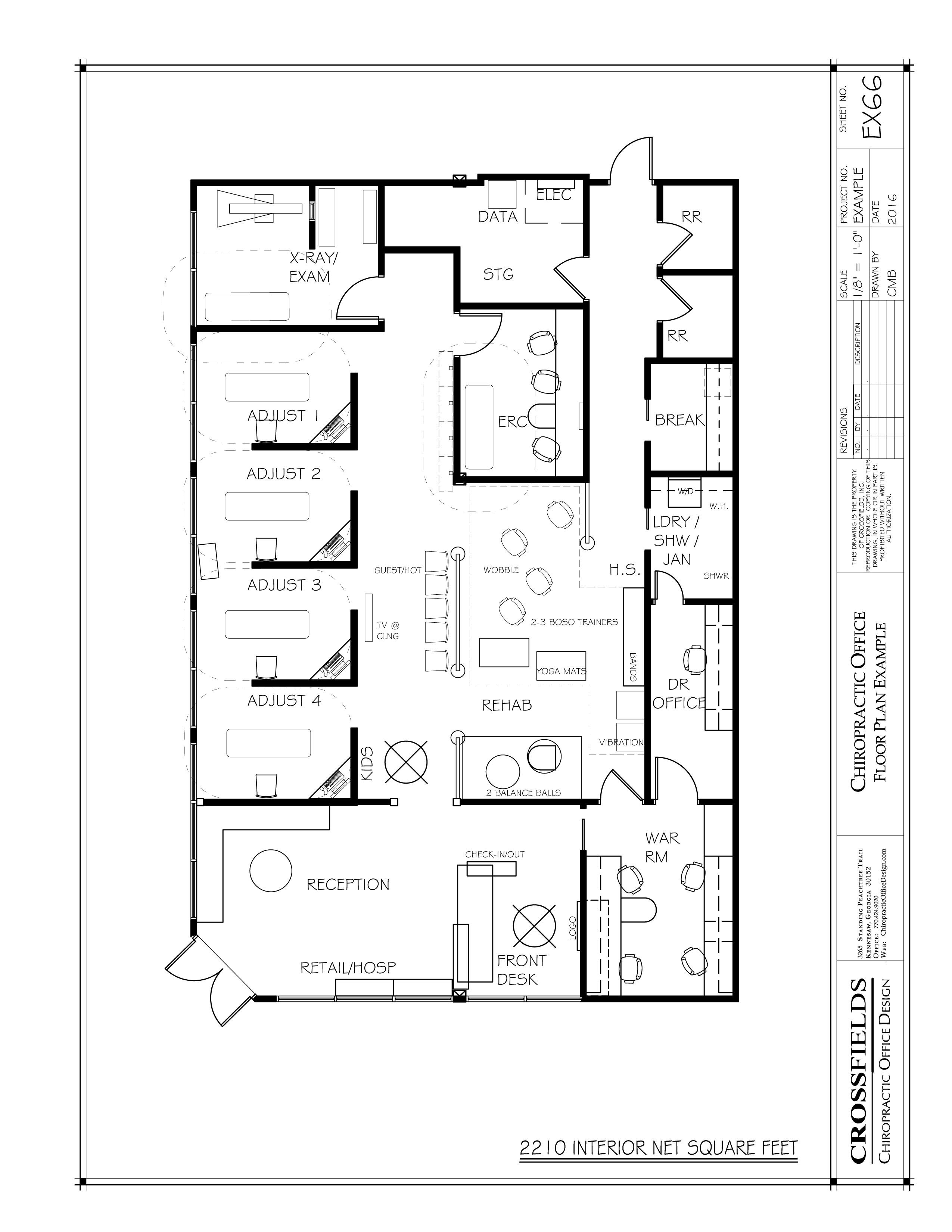Chiropractic Office Floor Plans In