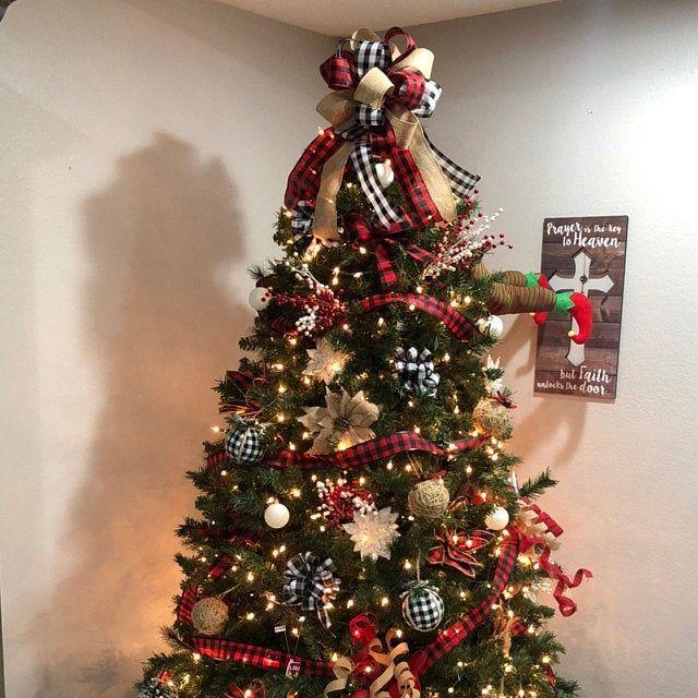 Christmas Wreath Bow / Xmas Wreath /Wreath Bow / H