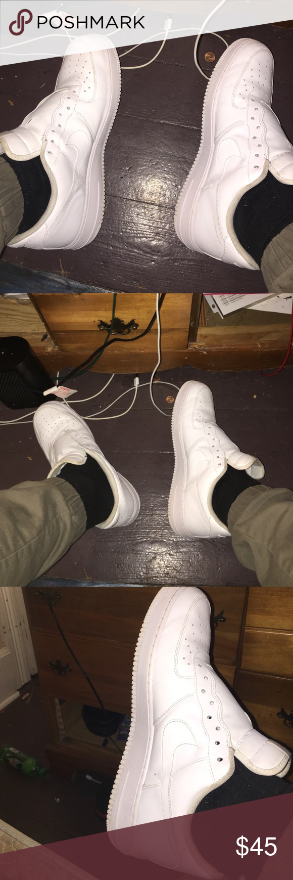 air force ones air force one shoes all white g fazos 9 10 only