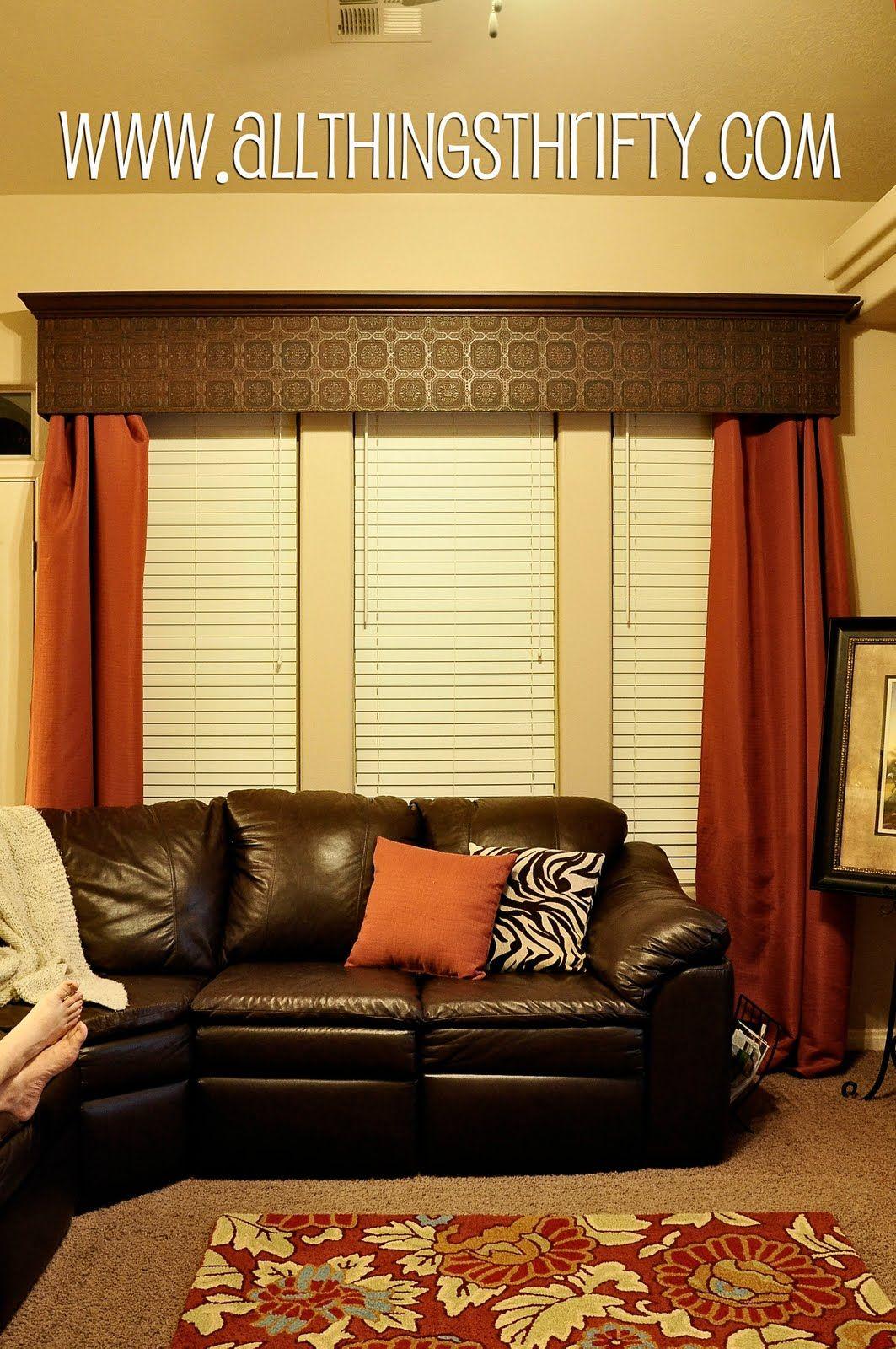 Diy Wood Cornice Diy Window Valance Cornice Board Using Paintable Wallpaper Cool