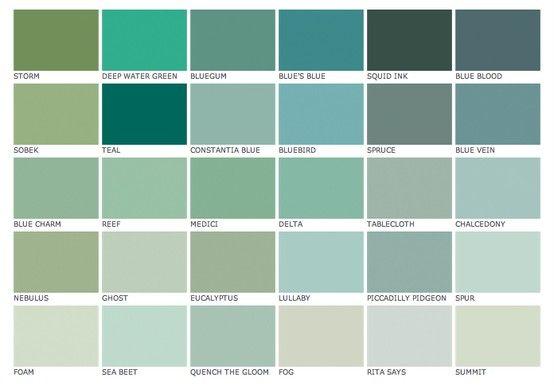 Seaside Color Palet Blue Green Paints Bathroom Colors Blue Green Paint Colors