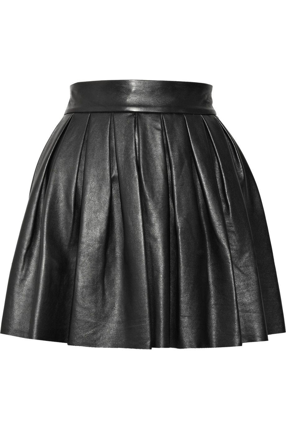 ALICE + OLIVIA Pleated leather skirt $276,50