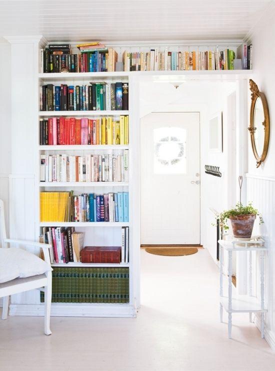 Colour coded bookcase idea also interiors pinterest minimalist rh