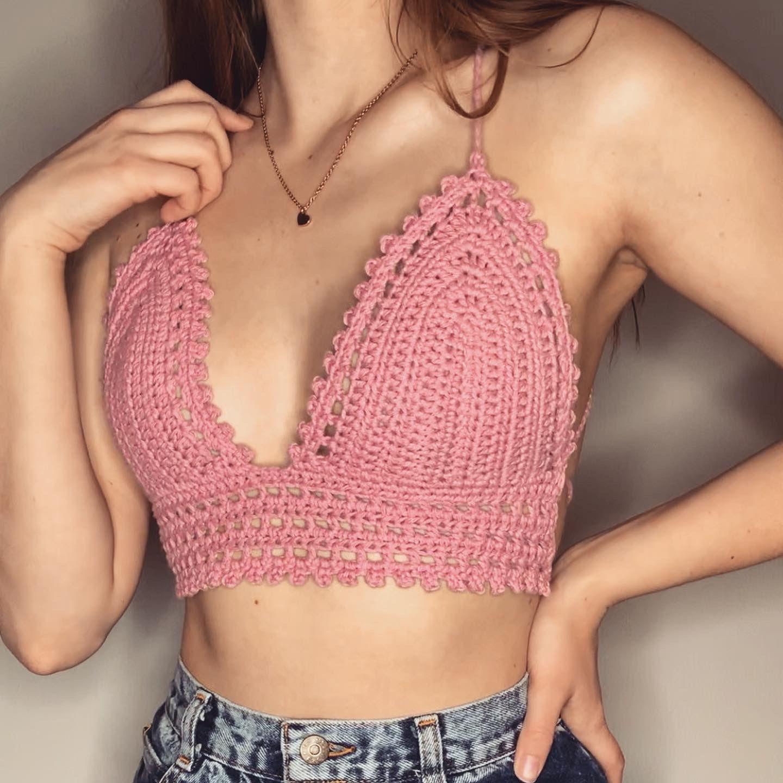 Customizable Crochet Crop Top The Lolita Top