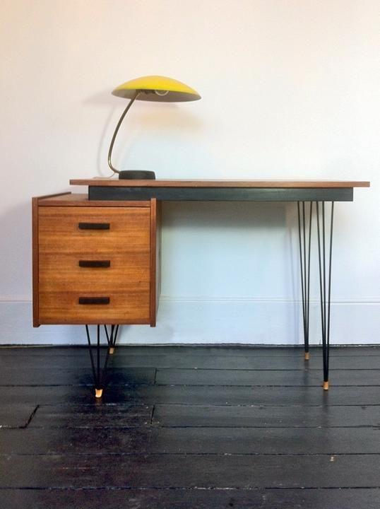 Areaneo Cees Braakman Hairpin Leg Desk Made By Pastoe Netherlands 1950s Mid Century Design Furniture Furniture Interior Furniture