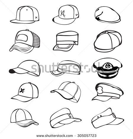 Cap Set Isolated On Hat Icon Vector Baseball Rap Rasterized Copy Conselhos Para Desenho Ideias Para Desenho Desenhando Esbocos