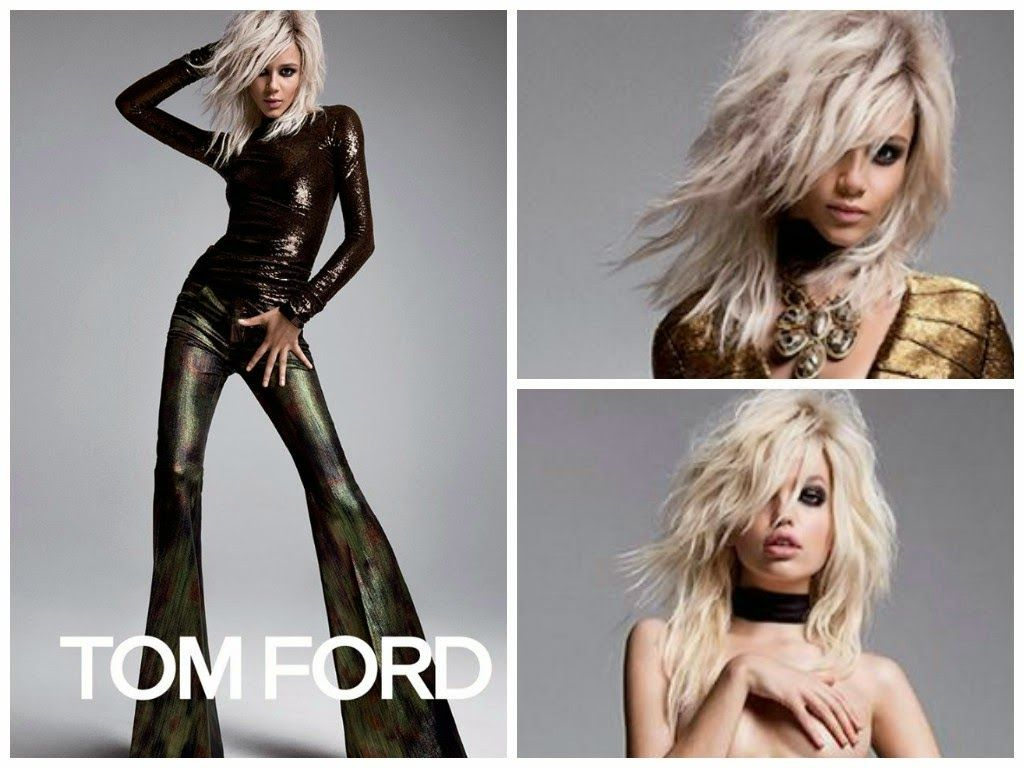 Fashion-Flashes de Moda by SARAH SUTTON: IT GIRL-TOM FORD SS-2015 campaign/pantalon campana & smokey eyes.