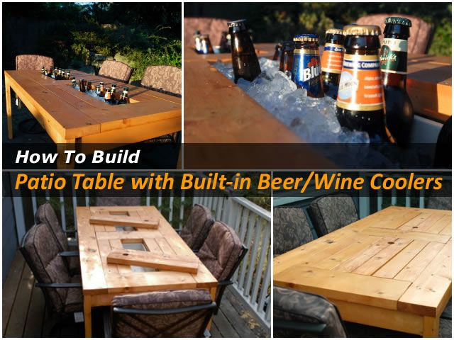 DIY Patio Table with Cooler diy craft crafts craft ideas diy ideas diy  crafts summer crafts - DIY Patio Table With Cooler Diy Craft Crafts Craft Ideas Diy Ideas