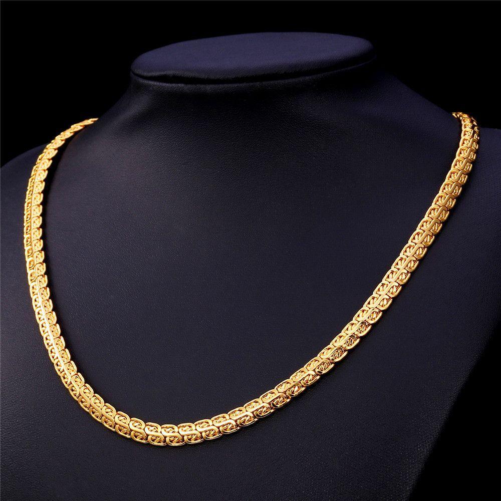 Gold Chain For Men Jewelry 2015 New Trendy 18K GoldRose Gold